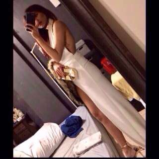 white long gown for rent/sale