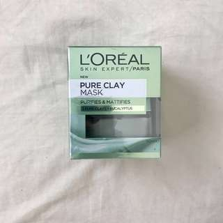 L'OREAL PARIS Pure Clay Mask: Purifying & Mattifying Eucalyptus Mask 50 mL