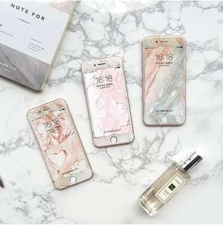 iPhone Marble Coating Full Screen 3D Tempered Glass (FEMME)