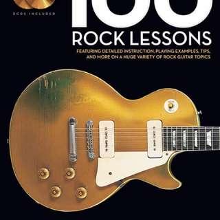 🚚 搖滾 100課 100 rock lesson 電吉他 美版
