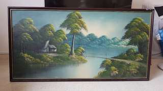 Painting - Old Kampong