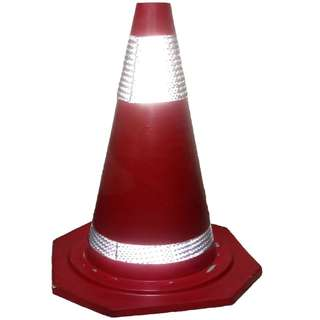 Meisons Traffic cone rubber with 2 reflective tape 70cm