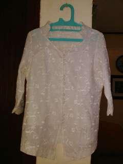 Stelan baju putih big size
