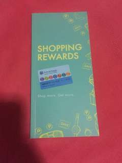 Shopping rewards booklet
