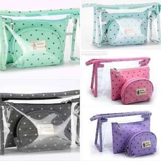 PVC 3in1 travel pouch