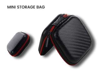 Black Mini Storage Bags Organizer For Earphone, Cable, Digital Organizador Case Pouch