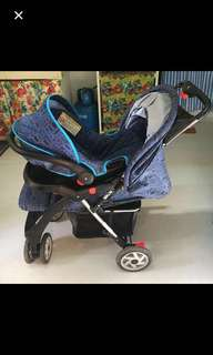 prelove happy dino stroller and carrier