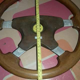 "Original 14"" MOMO Walnut Steering"