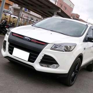 【購車無負擔‧買車夠保障】FORD 2014年 KUGA 1.6t 白色 頂級 服務實在 值得信賴