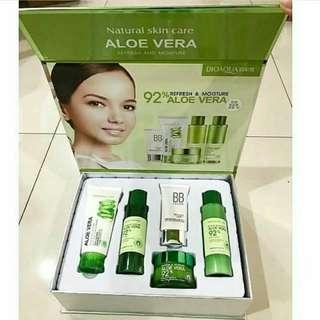Natural skin care aloe vera set by bioaqua