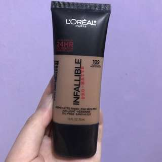 L'oreal infallible pro matte foundation - Loreal 109 Classic Tan