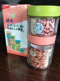 🚚 積木玻璃儲物罐(大+小)