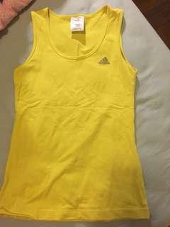 Adidas yellow top