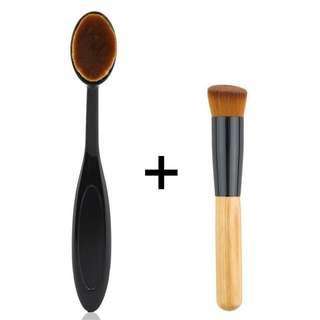 [free ongkir] Oval face brush + make up brush