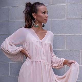 Mishkah White Closet Boutique Pale Pink Dress - S/M