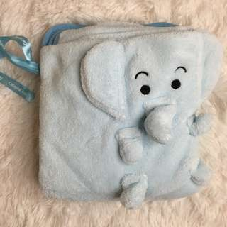 [BN] Cetaphil Blue Elephant Soft Fleece Blanket Baby Newborn