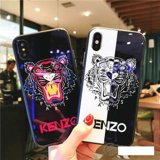 iPhone X/8/8+/7/7+/6/6+ KENZO Tempered Glass Silicone Case