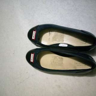 Hunter rubber flats shoes