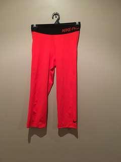 Nike Pro red leggings