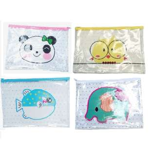 (Preorder Bulk Purchase) A4 Size Animal Pouch x12pcs