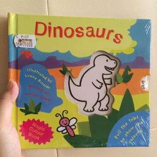 Magic Colour Book Dinosaurs
