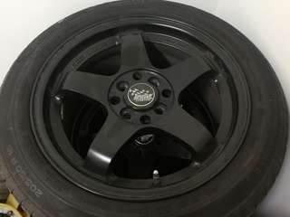 """SSW - 16"""" Rims with Tyre"""