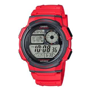 Casio AE-1000W-4A Red Watch for Men - COD FREE SHIPPING