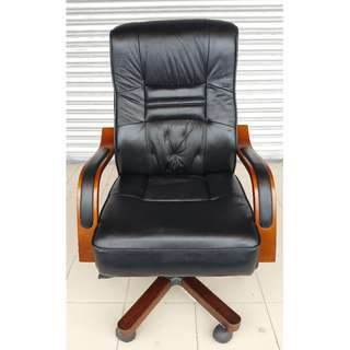 Director Genuine Leather Chairs - NOS