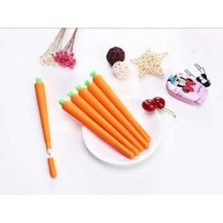 Bolpen pen pulpen tulis sekolah unik lucu murah bentuk wortel KSY097