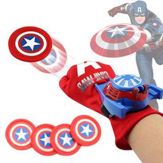 Captain America Gloves With Disc Launcher