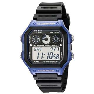 Casio AE-1300WH-2A Black/Blue Watch for Men - COD FREE SHIPPING
