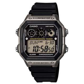 Casio AE-1300WH-8A Black/Grey Watch For Men - COD FREE SHIPPING
