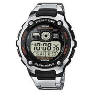 Casio AE-2000WD-1A Silver Stainless Watch for Men - COD FREE SHIPPING