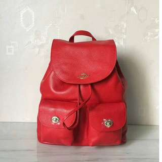 Coach leather  37410 ladies backpack colour  Red