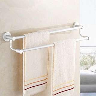 Wall Mounted Towel Aluminium Double 2 Bar 60 CM
