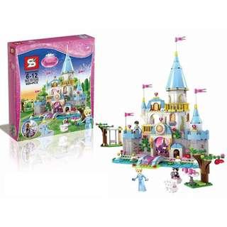 SY325 Building Block Cinderella Castle Princess Blocks Girl Sets Toys-669pcs+