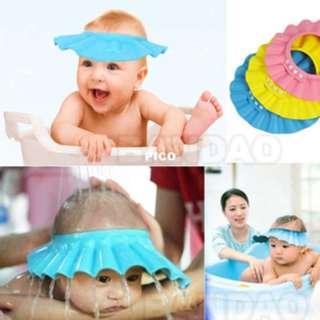 Topi keramas kancing anak kid shower cap mata shampoo mandi - AHM062