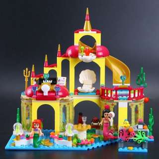 400pcs Lele Princess Seabed Palace Building Blocks Bricks Kids Toys