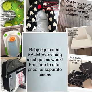 SALE! Baby equipment bundle! Can also offer price on separate items! Everything must go!