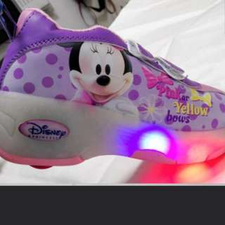 Minnie Mouse Roller Light-up Shoes