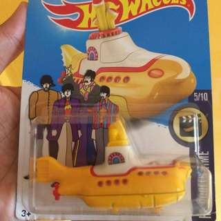 HotWheels Yellow Submarine
