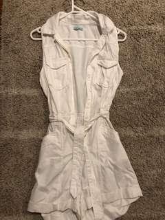 Kookai Size 34 White Playsuit