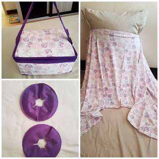 Breast milk cooler bag, nursing cover, breast thermal compress pads