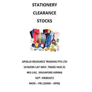 STATIONERY CLEARANCE STOCKS