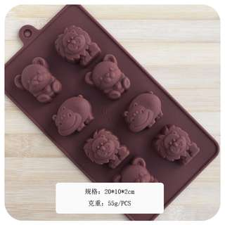 DIY chocolate hot selling silicone cake Bear soap Mold
