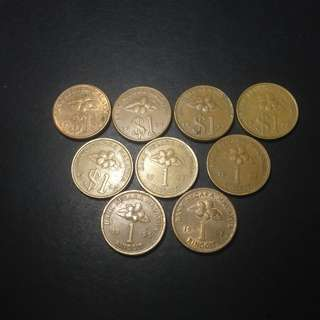duit lama RM1 keris complete set