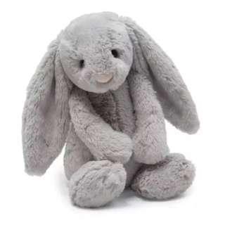 [PL] Grey Ultra Soft Bunny Toy Plush Toy Baby Infant Newborn Rabbit Cuddle Hug
