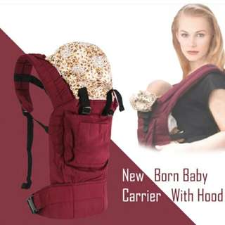 3 Position New Born Baby Carrier With Hood