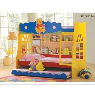 Winnie The Pooh Children Bunk Bed/Katil Dua Tingkat