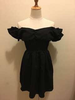 黑色露膊/一字膊/多著法裙晚禮服/飲宴 Black multiple style/ off-shoulder Evening dress/ Grad din/ Cocktail party dress
